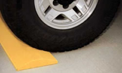 Plastic speed bumps made in the USA from recycled plastic